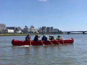 Eボート体験で社会貢献活動