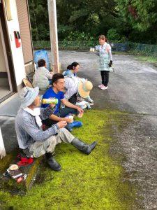 長田地区大八重公民館の掃除
