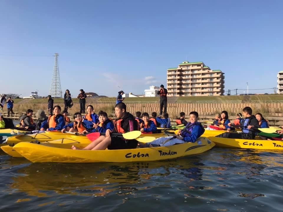 福岡の中学生修学旅行カヌー体験
