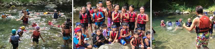わくわく川泳ぎと川の安全教室